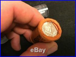 HALF Roll Of 1957 D Washington OBW 90% Silver Quarters BU. $5