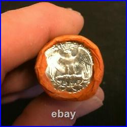 HALF Roll Of 1963 P Washington OBW 90% Silver Quarters BU. $5 Roll B