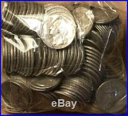 Lot Of (200) Washington Quarters 90% Silver. 5 Full Rolls Great Collection! L#5