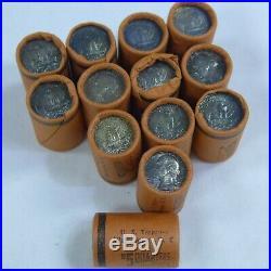 Lot of (13) Shotgun Mini-Rolls Washington Quarters Bank Wrapped Nice Original