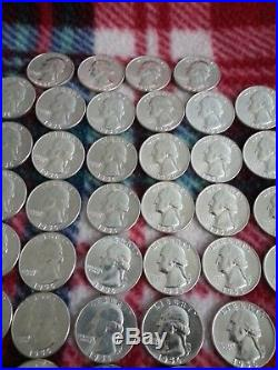 Lot of (1) Roll of 1956-D Silver Washington Quarters 40 Coins -90% Silver