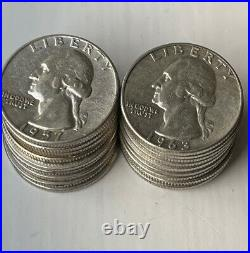Lot of 20 Coins 1/2 Roll Washington Quarter 90% Silver Choose how many