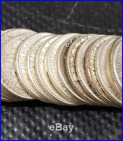 Lot of 40 George Washington 90% Silver Quarters Mixed Dates 1934-64 1 Full Roll