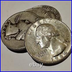 Lot of 40 US Washington Quarter (Roll) 1932-1964 Silver