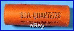OBW Shotgun Roll of 1959 D Washington Silver Quarters BU Uncirculated Coins
