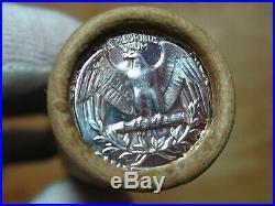 (ONE) CNB Denver Full GEM BU PROOF Washington Silver 40 Quarter Roll