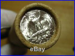 (ONE) CNB Denver PRE-1960 Full GEM BU Washington Silver 40 Quarter Roll