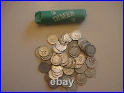 ONE ROLL OF ROOSEVELT DIMES 90% Silver (50 Coins)