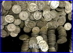 ONE ROLL OF WASHINGTON QUARTERS 90% Silver (40 Coins)