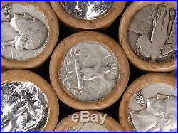 ONE UNSEARCHED Washington Silver Quarter Roll 40 Quarters 1932 1964 P D S