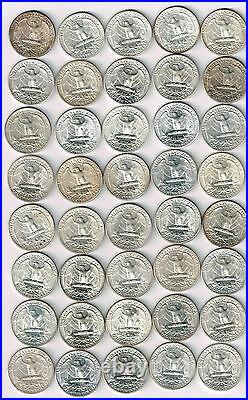 One BU roll(40) of Denver/San Francisco Silver Washington Quarters. 1934-D/1957D