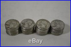 One Roll of Washington Silver Quarters (40 Coins) $10 Face Value