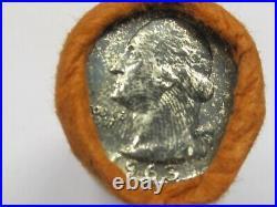 Original 1963 Bank Shotgun Roll Silver Washington Quarters BU QUALITY 40 COINS