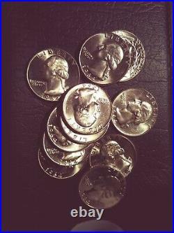 Original BU Roll of (40) 1964 Washington Quarters. Nice coins