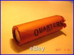 Original Bank Wrapped Roll Of 1941 S Washington Quarters