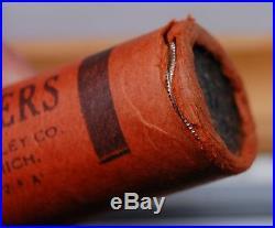 Original Bankwrapped Roll 1959 P Washington Quarters Olde Tyme Paper End Plug