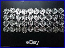 Original Roll 1958-p Washington Quarters Type B Reverse Gem Bu Estate Purchase