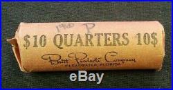 Original Roll (40) 1960 Bu Washington Silver Quarters (8002)