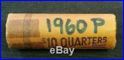 Original Roll (40) 1960 Bu Washington Silver Quarters (8156)