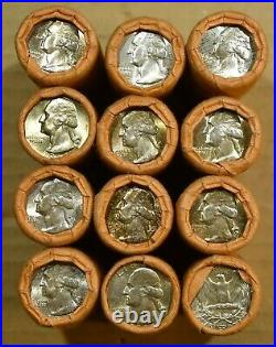 Original Unopened Bank Wrapped BU Roll of 40 1964 Washington Quarters