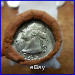ROLL OF 1945 Washington Quarter // Gem BU++ // 90% Silver