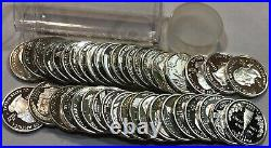 ROLL of 40 SILVER Proof State Quarters. Mixed dates & states 2000-2008