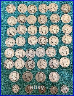 Roll. 1934 P Washington Quarters. + Bonus