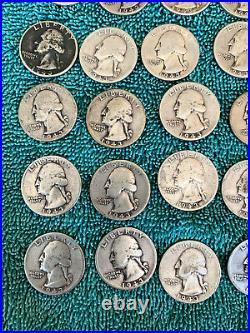Roll. 1943 Washington Quarters. + Bonus