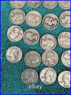 Roll 1951 Washington Quarter P, S and D. + Bonus