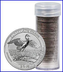 Roll-40 2018 S Silver Quarters America Beautiful Cumberland Island Reverse Proof