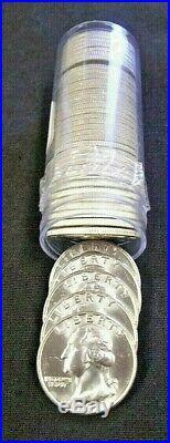 Roll (40) Bu 1961-d (10) & 1963-d (30) Washington Silver Quarters (3548nam)