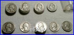 Roll 40 Silver S Washington Quarters $10 Face 90% Silver, 41-45, 47, 48, 53, 54