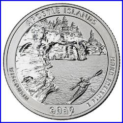Roll-40 U. S 2018-S Silver Apostle Islands Reverse Proof ATB Quarter GEM SKU55239