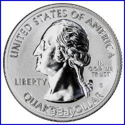 Roll-40 U. S. 2018-S Silver Block Island Reverse Proof ATB Quarter GEM SKU55242