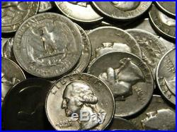 Roll 40 Washington Quarters 90% Silver $10 Face Mixed Dates/mints L2