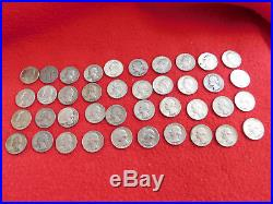 Roll 40 Washington Silver Quaters 90% Silver Coins Lot