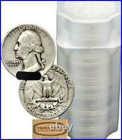 Roll (40 coins) Washington Silver Quarter, $10 Face Value, VG XF -#B417-40