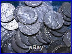 Roll 90% Silver Washington Quarters $10 Face Value 40 Coins
