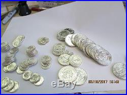 Roll Each 1964 Kennedy Halves Bu Roosevelt Dimes Bu +6 Bu 1964 Wash Quarters