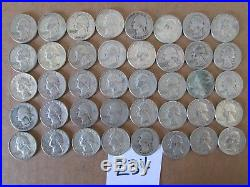 Roll Of 40 $10 Face Value 90% Silver Quarters (item #234)