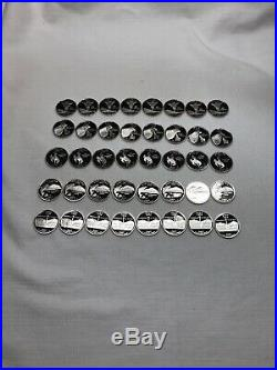 Roll Of 40-2007 S 90% Silver Proof State Quarters-all Five States-eight Each