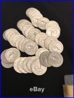 Roll Of 40 BU 1954 D Silver Washington Quarters #W54D