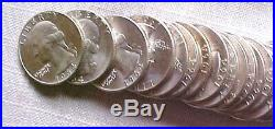 Roll Of 40 Bu 1964 Silver Washington Quarters Coins