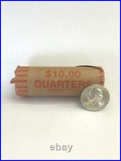 Roll Of 40 Washington Silver Quarters (90% Silver, Mixed Dates and Mint Marks)
