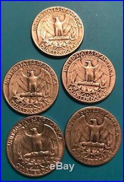 Roll Of 83 $20+ Face Value 90% Silver Washington Quarters Error Coins Key Dates