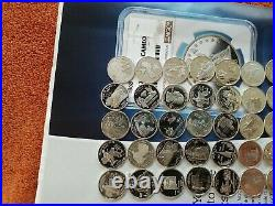 Roll Of Silver Proof Washington Statehood Quarters 40 Coins 2000 2008-s