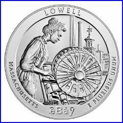 Roll of 10 2019 Lowell 5 oz Silver ATB America Beautiful GEM BU PRESALE SKU57025