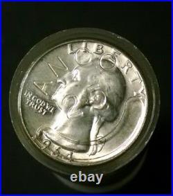 Roll of 1932-1964 Washington 90% Silver Quarters Good Condition