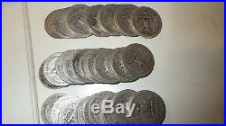 Roll of 1943 Silver Washington Quarters