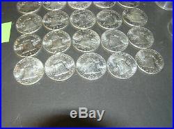 Roll of 20 Silver Franklin Half Dollars Uncirculated 1963 BU (C)